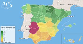 El mapa de la pobreza infantil en España