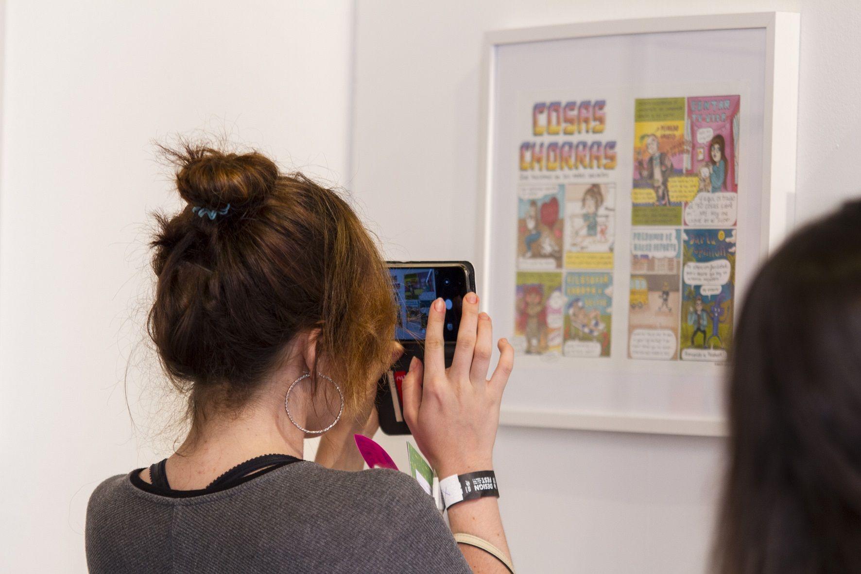 Fotografia Exposición de ilustración, en Design Fest