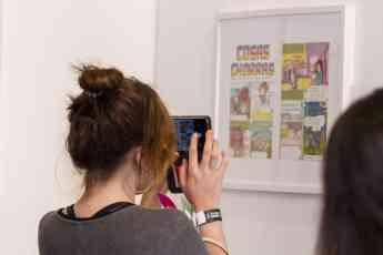 Foto de Exposición de ilustración, en Design Fest