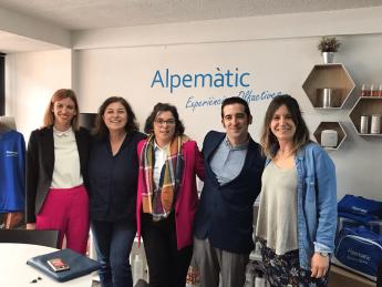 Los nuevos franquiciados de Alpematic Vigo visitaron la Central de la marca