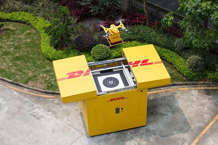 Foto de DHL distribuye con drones en China