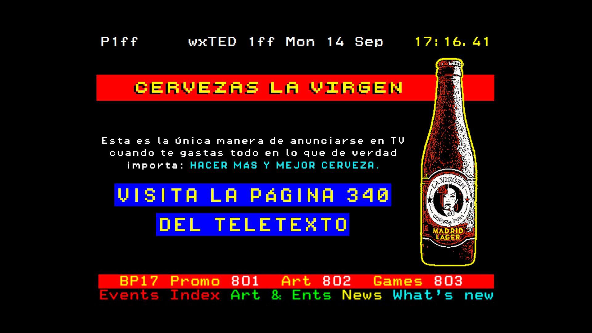 Foto de La Virgen en el Teletexto
