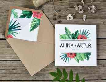 Foto de Invitacion de Boda Tropical Weddingstudio