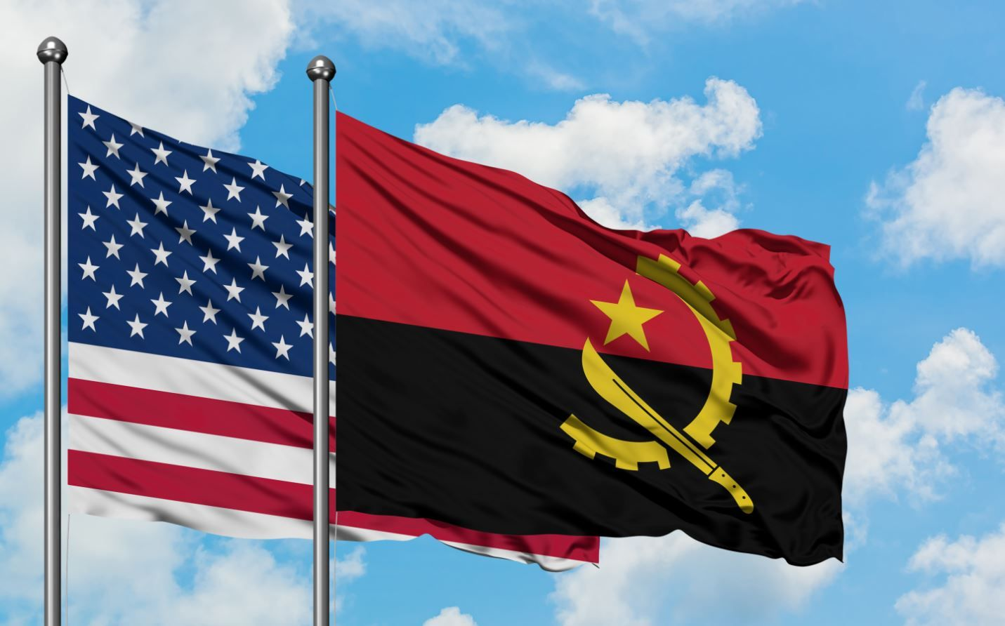 Foto de Angola US flags