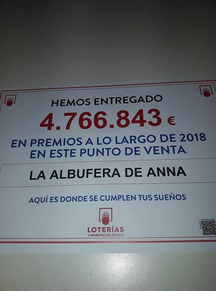 La Administracion de Loteria La Albufera de Anna, presentasu mascota el Pato Afortunado