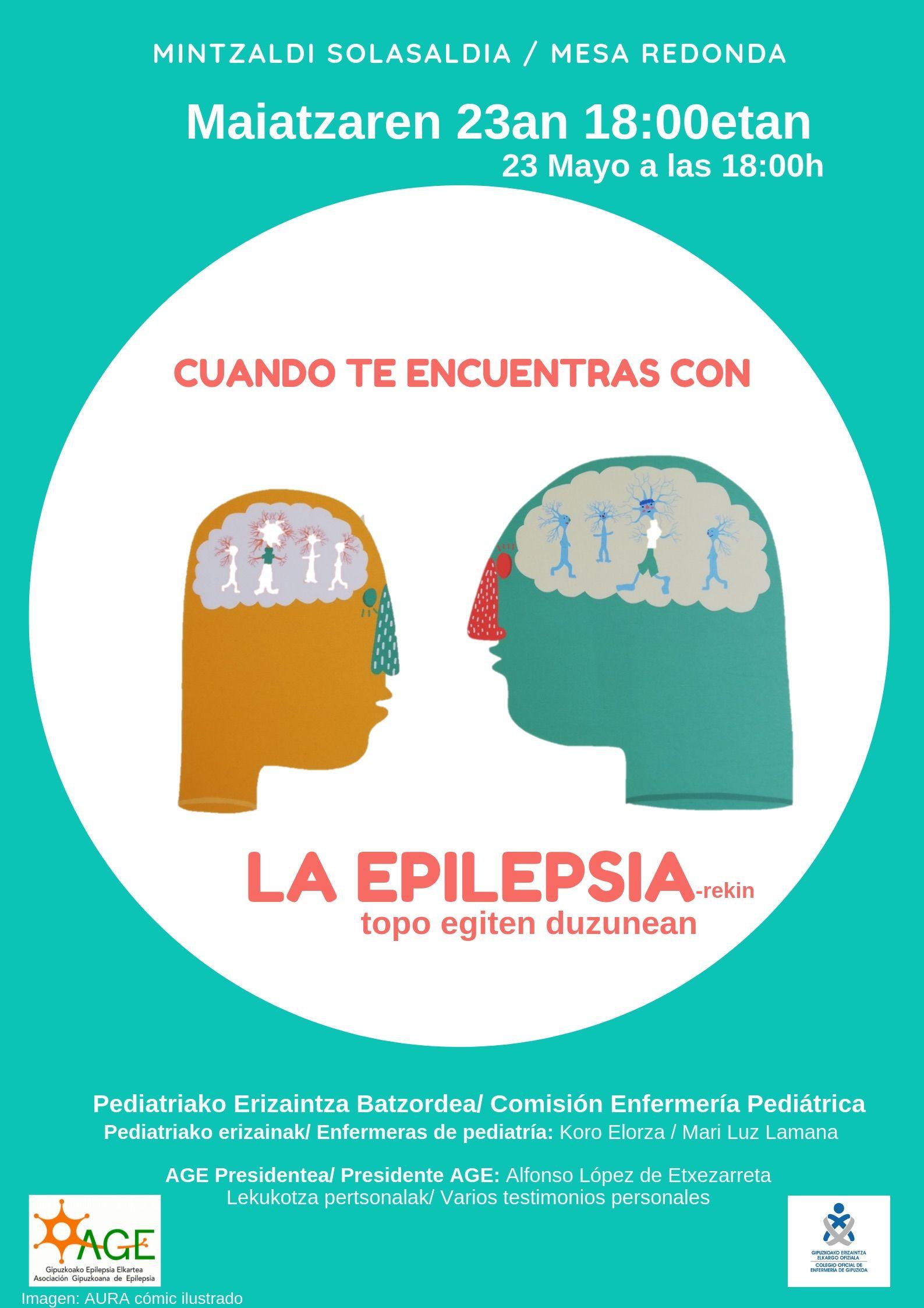 Foto de Cartel informativo de la charla sobre epilepsia que tendrá
