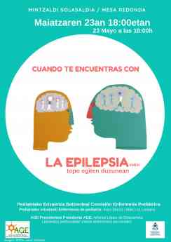 Cartel informativo de la charla sobre epilepsia que tendrá lugar mañana, jueves, en la sede del COEGI.