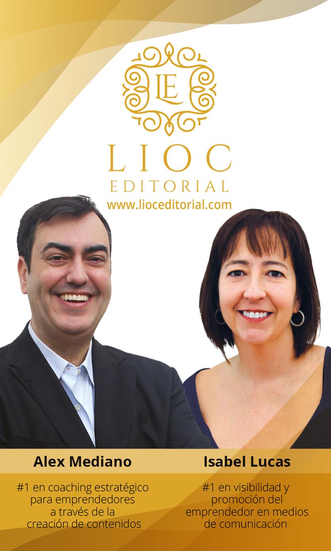 Foto de Alex Mediano e Isabel Lucas de LIOC EDITORIAL