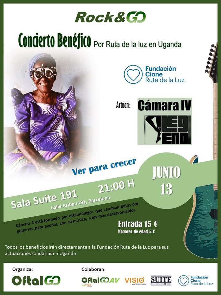 13 de junio, Sala Suite 191: Rock solidario, a la vista