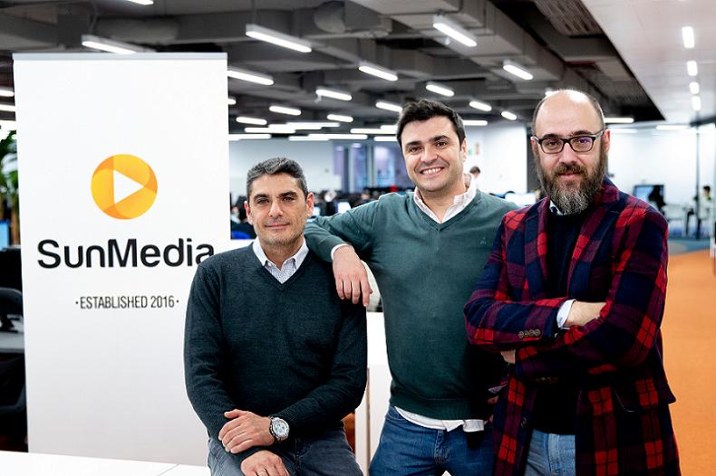 Foto de Oscar Pérez, Fernando García y David Gómez, socios de