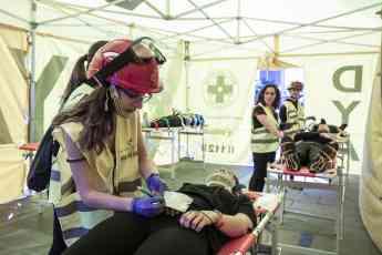 Foto de FOTO: Durante el ejercicio se ha instalado un hospital de