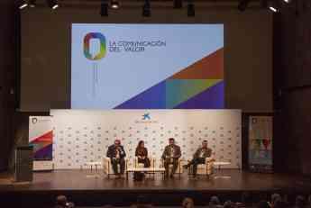 Momento de la mesa redonda Cohabitar - IV Jornadas LA COMUNICACIÓN DEL VALOR