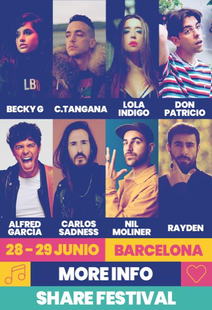 Don Patricio, Carlos Sadness y Rayden completan el cartel del Share Festival 2019