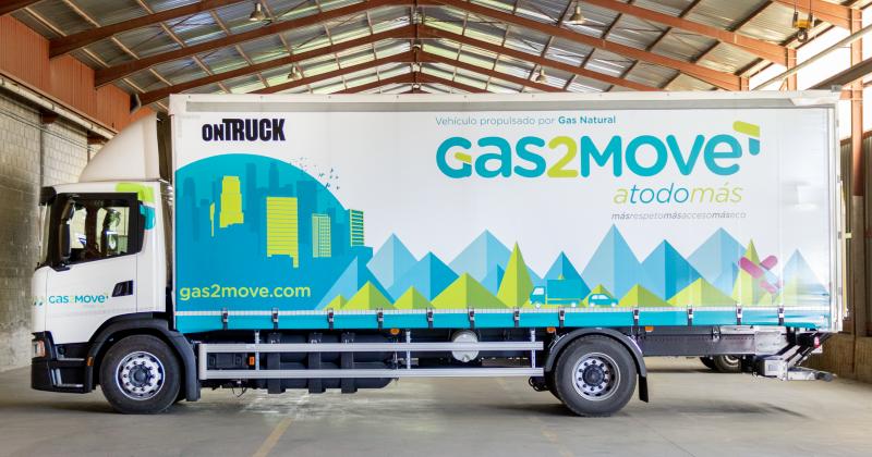 Ontruck y Gas2Move apuestan por camiones de gas natural para reducir las emisiones de CO2 en Madrid
