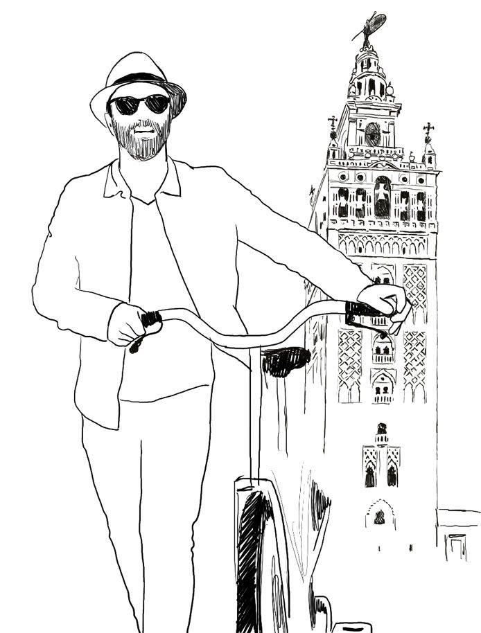 Foto de Rafa, el primer guía virtual de Sevilla