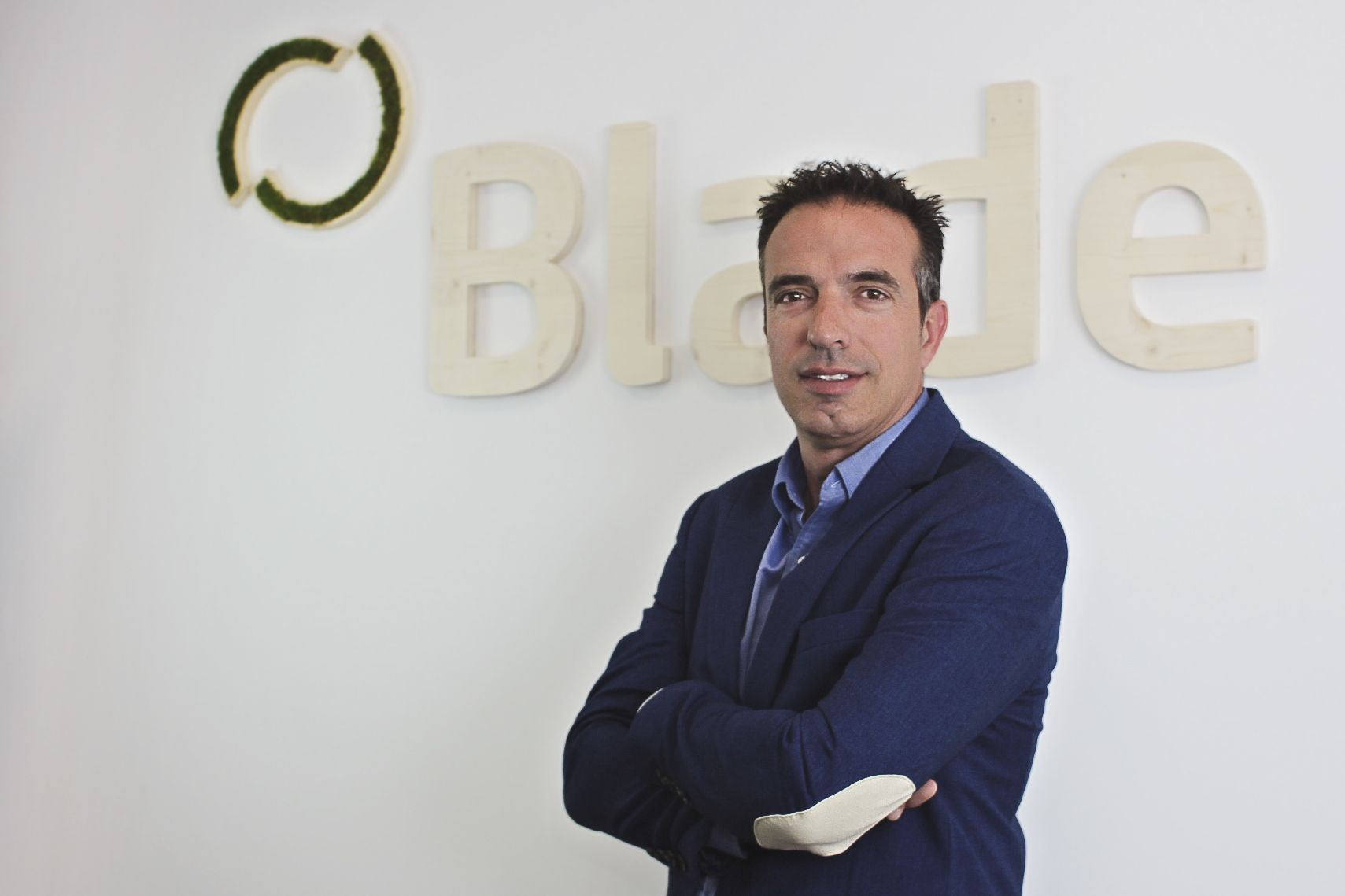 Foto de Rubén Mercado, fundador y CEO de BLADE