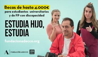 La Fundación Adecco invierte 300.000 euros en becas para ayudar a estudiantes con discapacidad