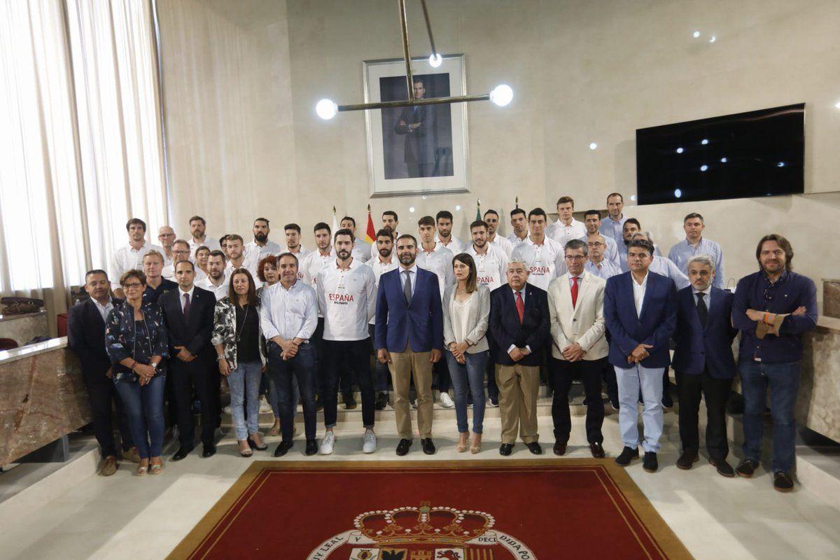 Fotografia La selección española de balonmano ha sido recibida por