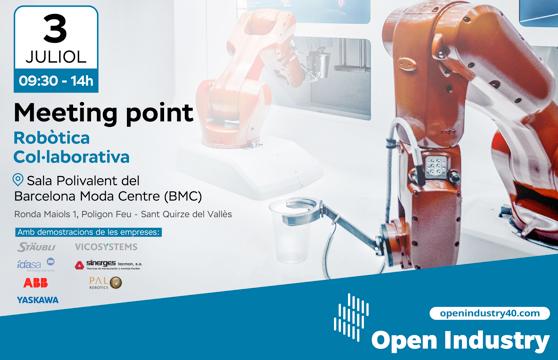 La comunidad Open Industry 4.0 organiza un Meeting Point dedicado a la robótica colaborativa,