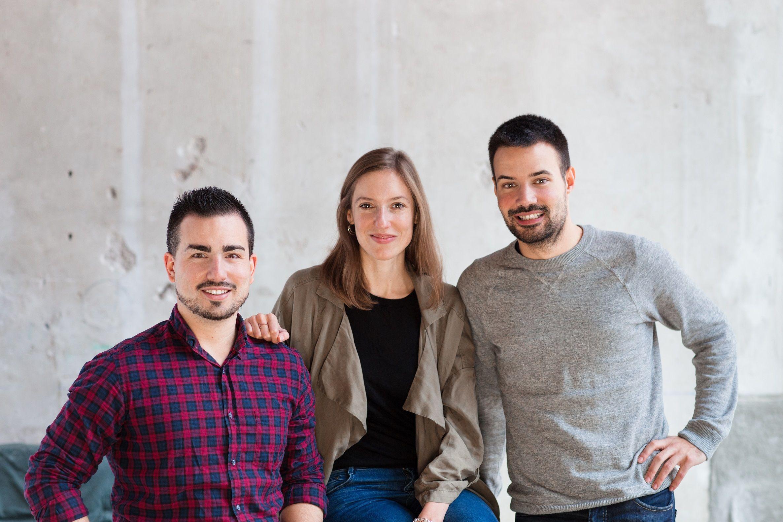 Foto de Fundadores Freshly Cosmetics: Joan, Mireia y Miquel