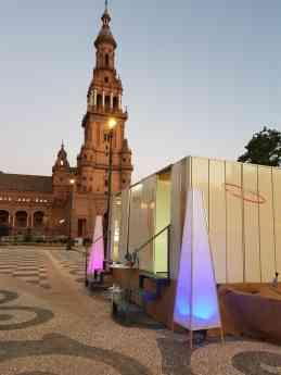 Caravan Line lleva el lujo al evento de la Plaza de España en Sevilla