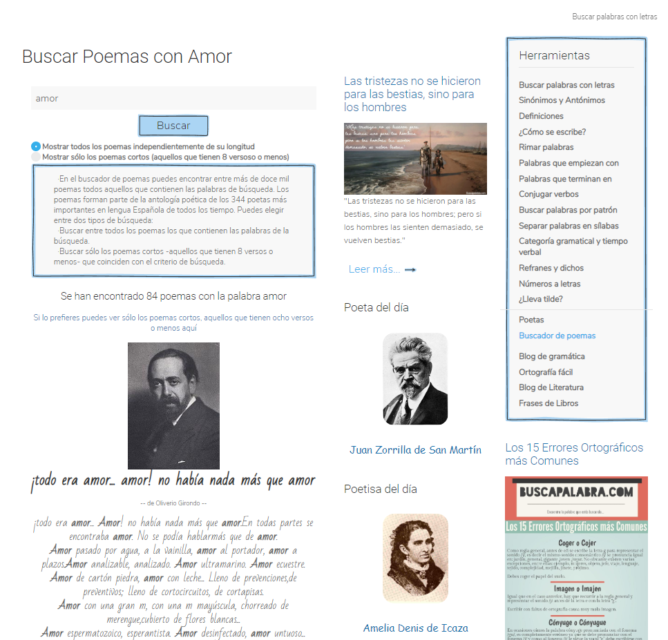 Fotografia Sección Poema Buscapalabra