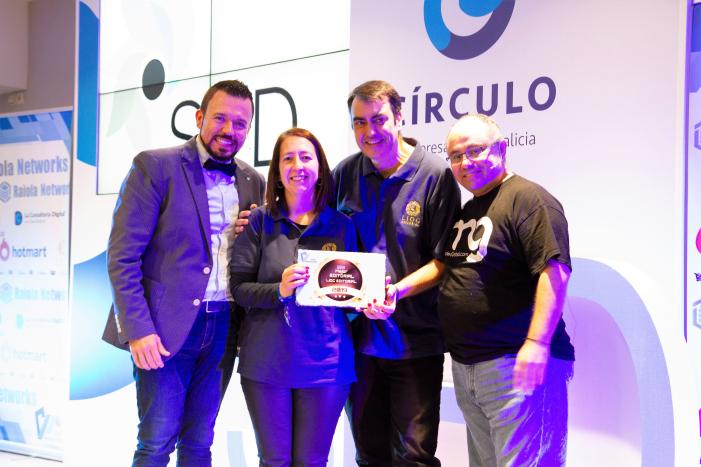 """LIOC Editorial recibe el premio a """"La Mejor Editorial de los Emprendedores"""", en el Congreso SED 2019"""