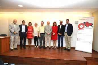 Nicolás Manito, Presidente de la Societat Catalana de Cardiologia; Dr. Xavier Viñolas, Presidente Saliente de la Societat Catala