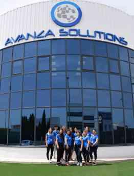 Foto de Parte del equipo de comerciales de Avanza Fibra