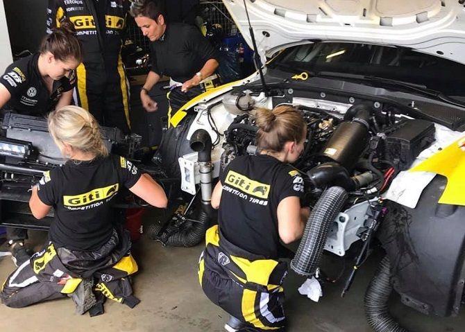Gran exito de Giti Tire en Nurburgring con doble victoria en SP8 y  buen trabajo de su equipo femenino