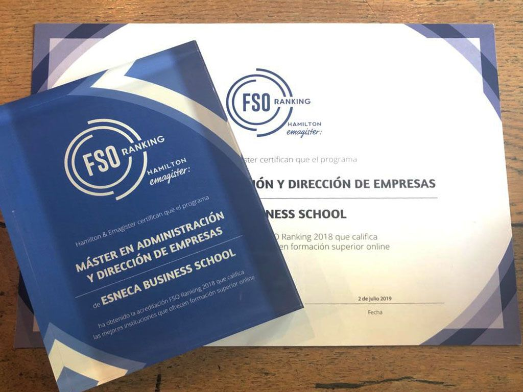 Foto de Esneca Business School recibe el Premio Ranking FSO 2018