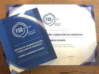 Esneca Business School recibe el Premio Ranking FSO 2018
