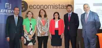 De izq a dcha. Alejandro Arola, Pilar Jurado, María José Garde, María Isabel López, Victor Guarch, y Juan Pujol.