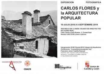 Cartel Exposición Carlos Flores y la Arquitectura Popular