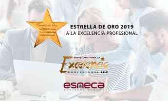 """Esneca Business School recibe la """"Estrella de Oro a la Excelencia Profesional 2019"""""""