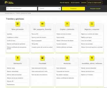 Directorio de trámites y gestiones de Páginas Amarillas