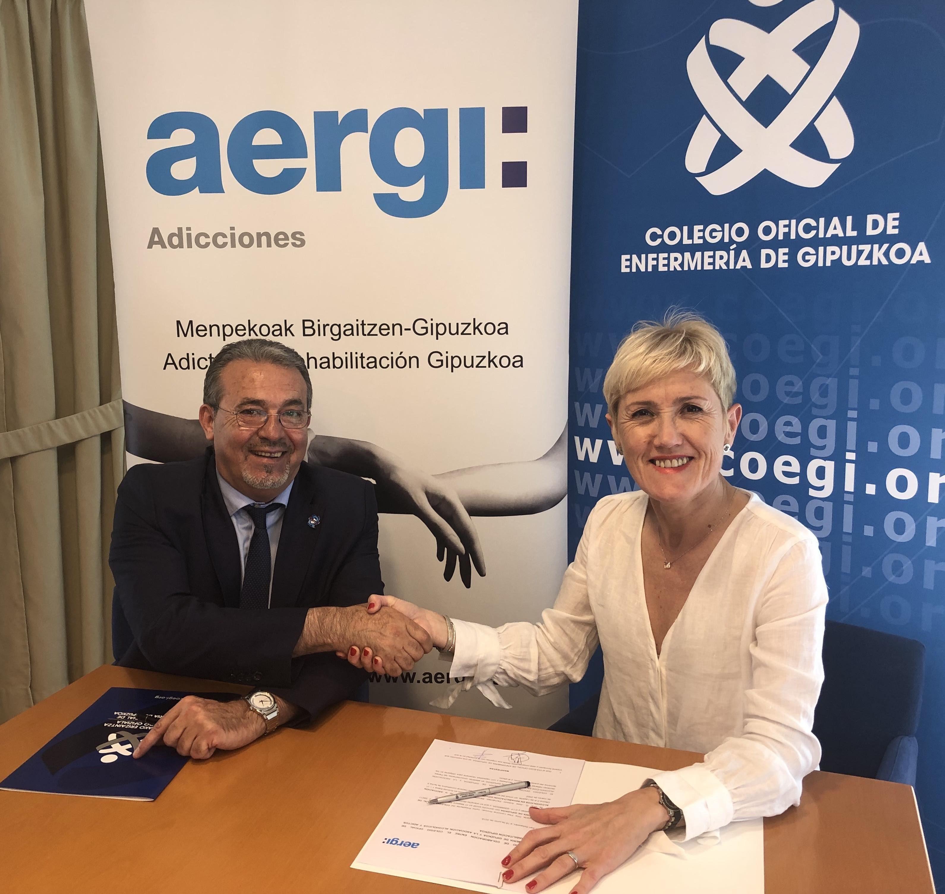 Foto de El presidente fundador de AERGI, Josean Fernández, y la