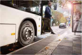 Bus urbano con neumático Giti GAU867v1 apto para todas posiciones