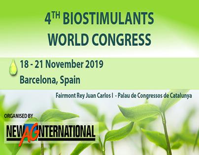 Disponible la agenda provisional del IV Biostimulants World Congress 2019
