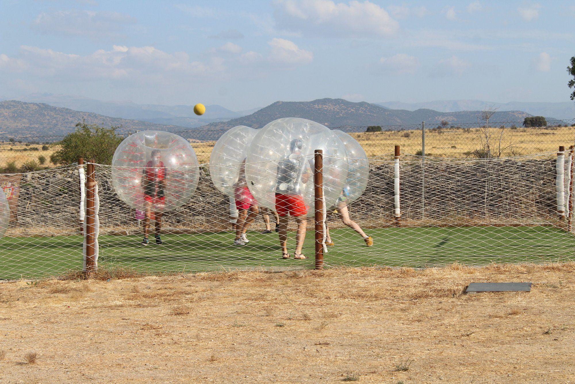 Fotografia Futbol burbuja en las instalaciones