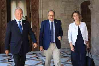 Torra, Chacón y Vall en el Palau de la Generalitat