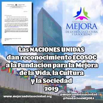 Fundacion para la Mejora reconocida por la ONU