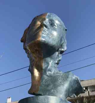 Teddy Cobeña inaugura una escultura pública en Pineda de Mar