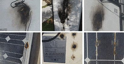 Foto de Placas solares dañadas