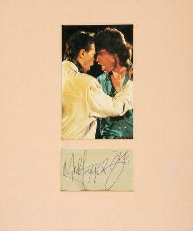 Fotografia David Bowie y Mick Jagger
