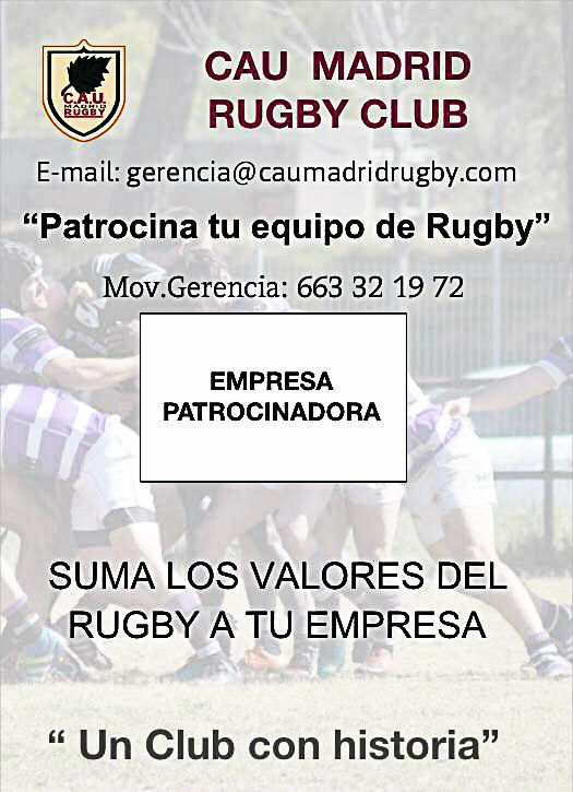 Patrocinio Equipo de Rugby, CAU Madrid Rugby Club