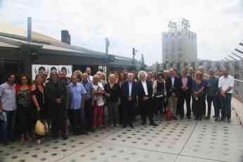 Representantes del sector teatral en Abrassame Barcelona