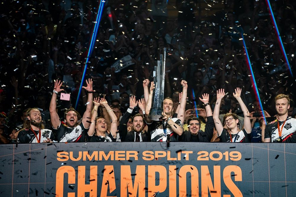 Foto de G2, campeones de la primera edición de la LEC
