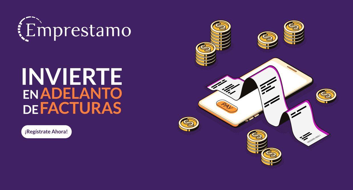 Foto de Invierte en Adelanto de Facturas con Emprestamo.com