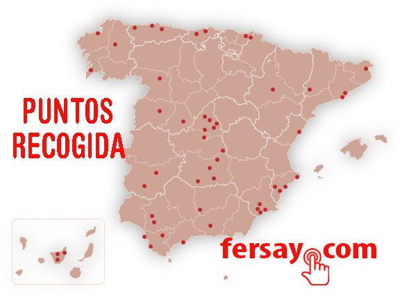 Fotografia Mapa puntos de recogida Fersay